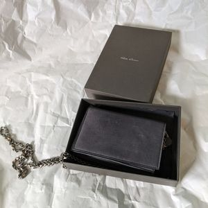 Rick Owens wallet on a chain BNWT in Iron color
